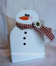 super cute snowman card, tag, box, etc... :)