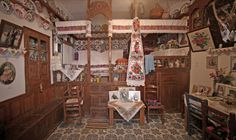 The interior of a tradition house in Karpathos, something like 10 people used to sleep in there . Karpathos, Traditional House, Greece, Fair Grounds, Travel, Greece Country, Viajes, Destinations, Traveling