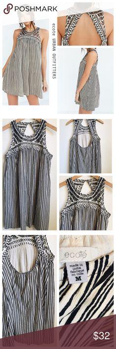 e206ae5a7608 URBAN OUTFITTERS ecote Dress Crochet   Striped EUC