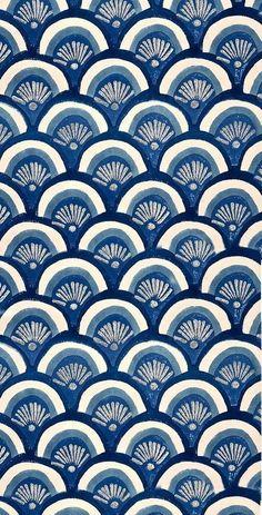 Beautiful patterns in ocean blues. Pretty Patterns, Beautiful Patterns, Color Patterns, Floral Patterns, Motifs Textiles, Textile Patterns, Surface Pattern Design, Pattern Art, Motif Design