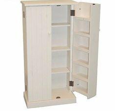 Bathroom Storage Kitchen Cabinets Pantry Food Wood Pine Furniture Linen Closet