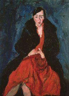 Chaïm Soutine, né le 9 juin 18931 et mort à Paris, le 9 août 1943, est un peintre français. Il a développé précocement une vision et une technique de peinture très particulières en utilisant une palette de couleurs flamboyantes dans un expressionnisme violent et tourmenté qui peut parfois, dans ses portraits, rappeler Egon Schiele.