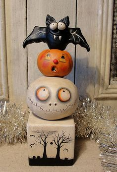 Halloween Ornament by Janell Berryman Image Halloween, Halloween Doll, Halloween Ornaments, Halloween Signs, Halloween Projects, Holidays Halloween, Halloween Pumpkins, Happy Halloween, Halloween Decorations