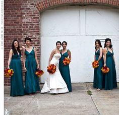 beautiful teal wedding theme