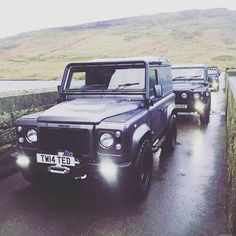 Out and about, embracing the Yorkshire January weather! - #Defender…
