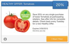 SavingStar Fresh Produce Coupon – 20% Off Loose Tomatoes
