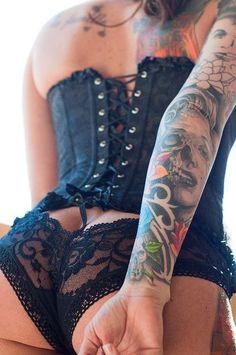 black corset...tattoos