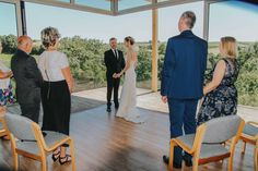 Our first wedding at the Tree Top Escape! The views from the Nest create a fabulous backdrop!