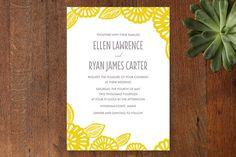 My favorite invites so far...Bold Block Print Wedding Invitations by Katharine Watson at minted.com