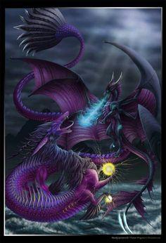 purple sea dragons