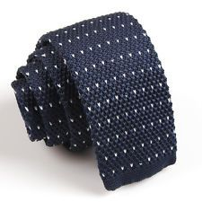 On sale for another 13h 12m at $0.99 is this great Man Dark Blue Stripe Tie Knit Knitted Woven Necktie Slim Skinny Wedding Party. Follow for more great mens fashion neck ties! #mensfashion
