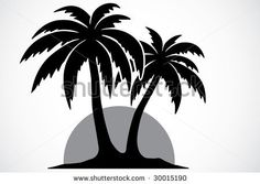 palm tree stencil Baby Silhouette, Silhouette Clip Art, Silhouette Design, Tree Stencil, Tatoo Designs, T Shirt Painting, Letter Stencils, Driftwood Art, Hobbies And Crafts