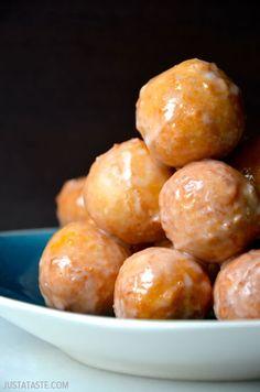 Easy Homemade Glazed Doughnut Holes #recipe
