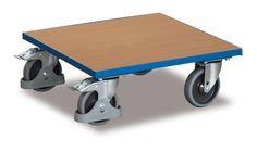 GTARDO.DE:  Kistenroller mit Holzladeflächen, Tragkraft 400 kg, Ladefläche 500 x 500 mm, Maße 500 x 500 x 185 mm, Rad 125 mm 88,00 €