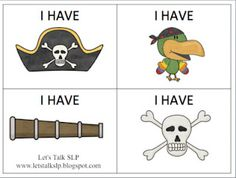 Pirate Games for Speech Therapy -  -  Pinned by @PediaStaff – Please Visit http://ht.ly/63sNt for all our pediatric therapy pins
