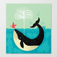 Buy The Bird and The Whale by Oliver Lake as a high quality Canvas Print. Worldwide shipping available at Society6.com. Just one of millions of products…