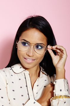 Oh Hey, that's me for @Refinery29!  Brilliant Makeup DIYs For Girls In Glasses #refinery29