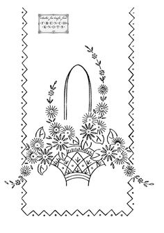 Embroidery Transfer Patterns – Flowers, Baskets, Hearts and Roses