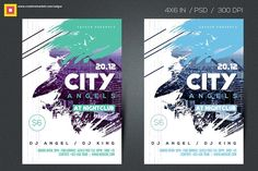 City Angels Party Flyer by Satgur Design Studio on @creativemarket