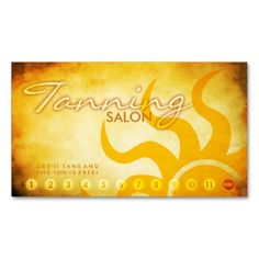 Tanning salon customer loyalty punch card double sided standard aged tanning salon loyalty card business cards this great business card design is available for colourmoves