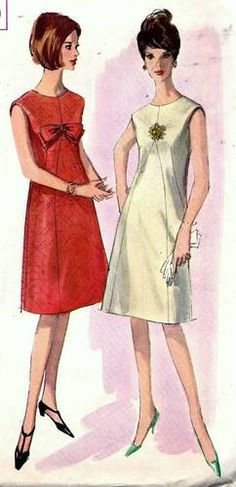 60s Vintage Simplicity 5920 Sleeveless A-Line Dress  B34/14  $9.85