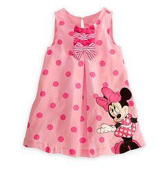 Frete grátis vestido de verão crianças Minnie Mouse rosa vestido de festa Casual vestidos de promoção BD0519(China (Mainland))