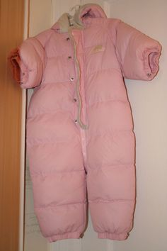 Baby Girl Size 12 mos Pink Snowsuit w/ Faux Fur Trim Children's Baby Place 1 yr #ChildrensPlaceBabyPlace #Snowsuit #Everyday