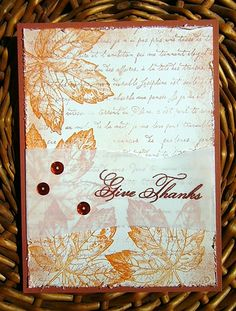 Another month has rolled by and we're entering November!  At Amusing Challenge this week  I hope you will join us with our Give Thanks or Thanksgiving type theme!  Throughout the month I'll have di...