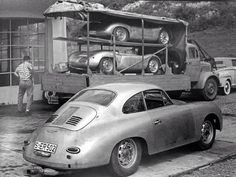 Porsche 356 Carrera on top Porsche Carrera Gt, Porsche 911 Rsr, Porsche Cars, Porsche Roadster, Porsche Motorsport, Porsche Classic, Classic Cars, Ferdinand Porsche, Nascar