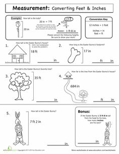 Printables Inches To Feet Worksheet inches feet and yards measuring worksheet math pinterest worksheets spring measurement convert inches