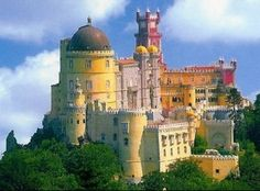 Pena Palace in Sintra, Portugal - looks like a castle from a fairytale