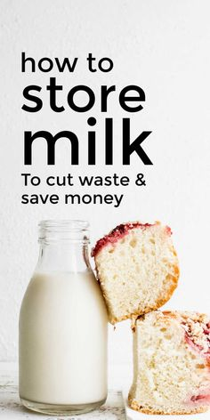 Learn these simple, frugal hacks for storing milk the best way to keep it fresh in the fridge and freezer to reduce food waste and save money. #milk #storingmilk #foodstorage #storingfood #frugalfood Cooking 101, Healthy Cooking, Frugal Meals, Easy Meals, Freezing Milk, Food Hacks, Food Tips, Vegan News, Emergency Food