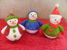 SNOWMAN in cold porcelain, porcelana fría, masa flexible, biscuit, fimo , polímero, clay, polymer clay , porcelaine froide