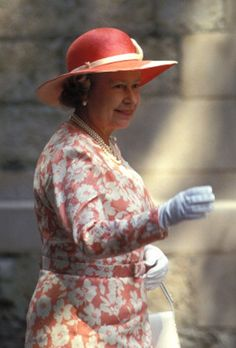 Queen Elizabeth,  July 14, 1994   Royal Hats.....Sarah and Daniel Chatto Wedding: Royal Guest Hats....Posted on July 15, 2014 by HatQueen