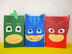 PJ Masks Party Favor Bags/ DIY Birthday di CreativePartyStudio