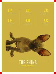 The Shins - gig poster
