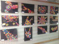 expo mosaicos con papel pintado 6º básico