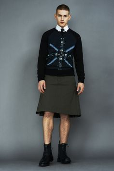 a man in a skirt is the sexiest thing on earth - Igor Stepanov Sports Markus Lupfer's Fall/Winter 2013 Collection