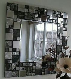 love this mirror! Stained Glass Mosaic, House, Home, New Homes, Home Deco, Mosaic Tiles, Mosaic Mirror, Mirror Wall, Mirror