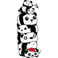 Stack of Pandas is a T Shirt designed by HappyHellodesign to illustrate your life and is available at Design By Humans