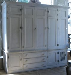 Holy mother of gorgeous.. Antique Custom Cedar-Lined Freestanding Armoire Closet.