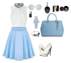 """Wonderful blue"" by prosvetovajane ❤ liked on Polyvore featuring Alexander Wang, WithChic, Michael Kors, Michael Antonio, OMEGA, J.Crew, Roberto Cavalli, Chanel, Christian Dior and Pandora"