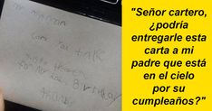 Un niño le escribió una carta a su padres fallecido y recibió una respuesta genial