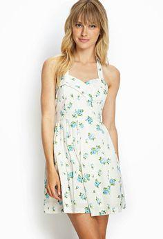 H m green summer dress big