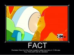 I love adventure time more than I do twilight so I kinda have to agree to this