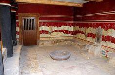 """Palazzo di Cnosso, ca 1700-1400 a.C., civiltà minoica (periodo neopalaziale). Sala denominata """"del trono''"""