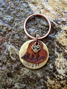 Dog Tags Dog Tag Pet ID Tags Tag Honey Suckle by FetchAPassionTags