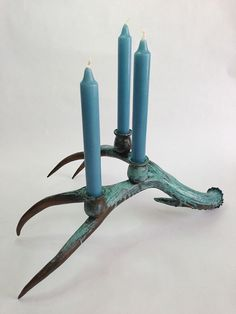 Antler Candle Holder By Allthingsinsulator On Etsy | Mid Century Modern |  Pinterest | Etsy, Antlers And Candle Holders