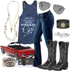 """Whiskey Girl"" by thecowgirlwaymagazine on Polyvore"