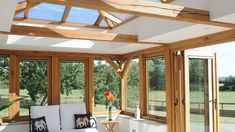 luxury Garden room There is something about the beauty. - luxury Garden room There is something about the beauty of natural oak – - Garden Room, Garden Room Extensions, Timber Frame Homes, Garden Living, Flat Roof Extension, Oak Framed Extensions, Luxury Garden, Minimal House Design, Contemporary Garden Rooms